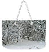 Snowy Winter Weekender Tote Bag