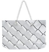 Snowy Wire Netting Weekender Tote Bag