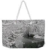 Snowy Wissahickon Creek Weekender Tote Bag