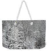Snowy Woodland Weekender Tote Bag