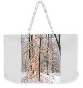 Snowy Woods Weekender Tote Bag