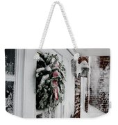 Snowy Wreath  Weekender Tote Bag