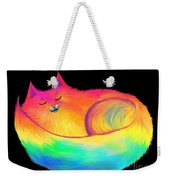 Snuggle Cat Weekender Tote Bag