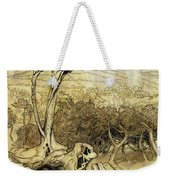So Nobody Can Quite Explain Exactly Where The Rainbows End Weekender Tote Bag by Arthur Rackham