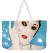 Soap Bubble Woman  Weekender Tote Bag