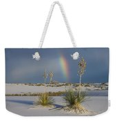 Soaptree Yucca And Rainbow White Sands Weekender Tote Bag