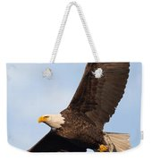 Soaring American Bald Eagle Weekender Tote Bag