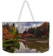 Soaring Autumn Colors In The Japanese Garden Weekender Tote Bag