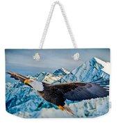 Soaring Bald Eagle Weekender Tote Bag by Gary Keesler