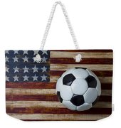 Soccer Ball And Stars And Stripes Weekender Tote Bag