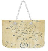Soccer Ball Construction Artwork - Vintage Weekender Tote Bag