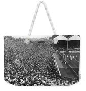 Soccer Crowd At Highbury Weekender Tote Bag