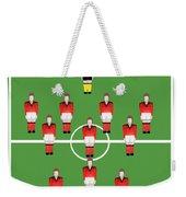 Soccer Team Football Players Weekender Tote Bag