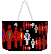 Social Responsibility 1 Part 3 Weekender Tote Bag by Angelina Vick