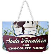 Soda Fountain Weekender Tote Bag