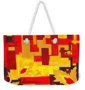 Soft Geometrics Abstract In Red And Yellow Impression I Weekender Tote Bag