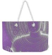 Soft Glow Purple Buddha Weekender Tote Bag by Sally Rockefeller