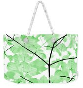 Soft Green Leaves Melody Weekender Tote Bag