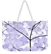 Soft Lavender Leaves Melody Weekender Tote Bag