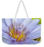 Soft Mauve Waterlily Weekender Tote Bag