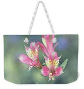 Soft Pink Alstroemeria Flower Weekender Tote Bag