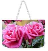 Soft Pink Roses Weekender Tote Bag
