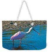 Soft Pink Spoonbill Weekender Tote Bag