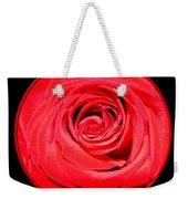 Soft Red Rose Closeup Weekender Tote Bag
