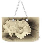 Soft Sepia White Poppy Matilija Flower Weekender Tote Bag