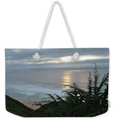 Soft Silvery Pacific Sunset Weekender Tote Bag