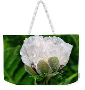 Soft White Poppy Weekender Tote Bag