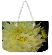 Soft Yellow Dahlia Weekender Tote Bag