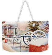 Softly Christmas Snow Weekender Tote Bag by Kip DeVore