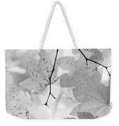 Softness Of Maple Leaves Monochrome Weekender Tote Bag
