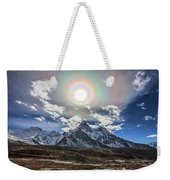Solar Corona Above The Ama Dablam Weekender Tote Bag