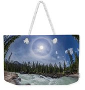 Solar Halo Over Natural Bridge, Yoho V1 Weekender Tote Bag