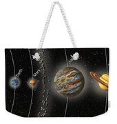 Solar System Orbits, Illustration Weekender Tote Bag