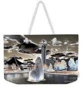 Solarized Infrared City Park Weekender Tote Bag