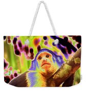 Solarized White-faced Monkey Weekender Tote Bag