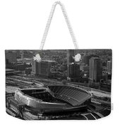 Soldier Field Chicago Sports 05 Black And White Weekender Tote Bag