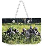 Soldiers Maintain Security At Fort Weekender Tote Bag
