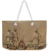 Soldiers Relaxing, 1844 Wc & Gouache On Paper Weekender Tote Bag
