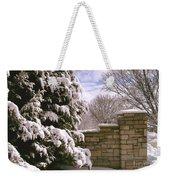 Solid Winter Weekender Tote Bag