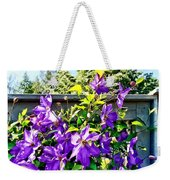 Solina Clematis On Fence Weekender Tote Bag