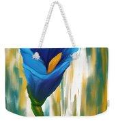 Solitary Blue Weekender Tote Bag
