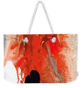 Solitary Man - Red And Black Abstract Art Weekender Tote Bag