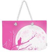 Solitary Pink Background Weekender Tote Bag