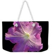 Solitary Pink Petunia Weekender Tote Bag