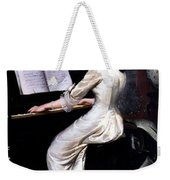 Song Without Words, Piano Player, 1880 Weekender Tote Bag