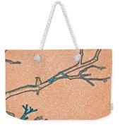 Songbird Peach Weekender Tote Bag